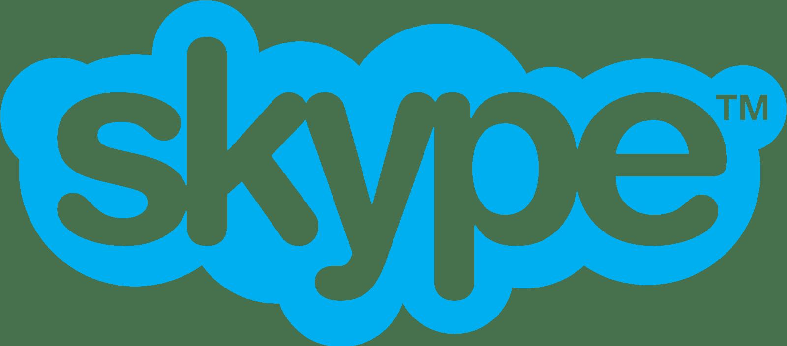 Skype transparent logo